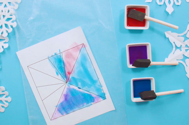 Color Paper Snowflakes