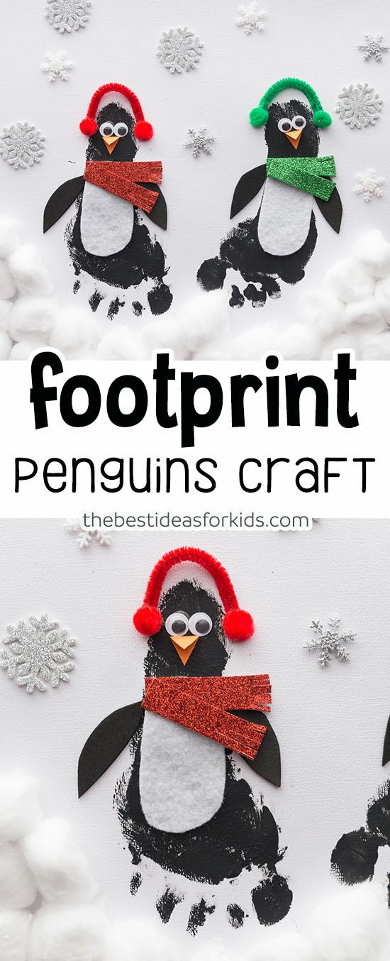 Footprint Penguins Craft