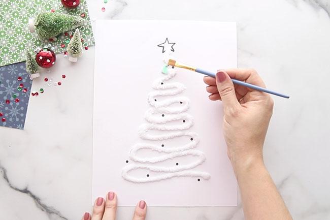 Paint Salt Painted Christmas Trees