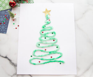 Salt Painted Christmas Trees