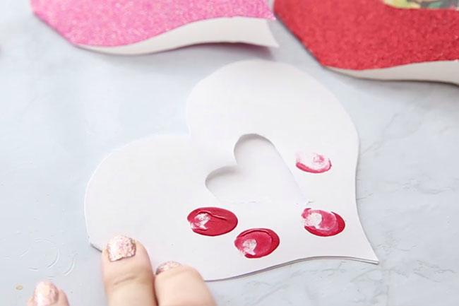 Add Fingerprints to Heart Card