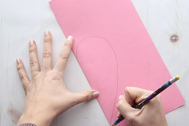 Draw a Heart on Pink Paper