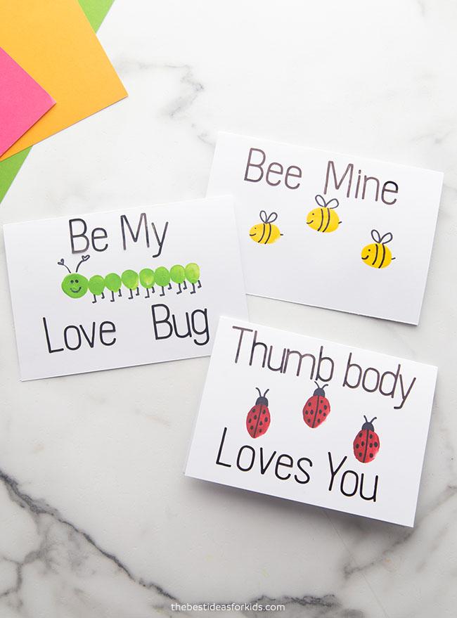 Fingerprint Valentine Cards Kids