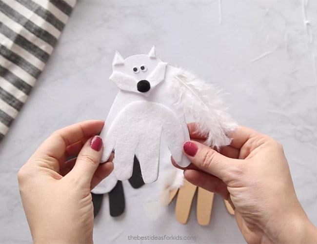 Handprint Arctic Fox