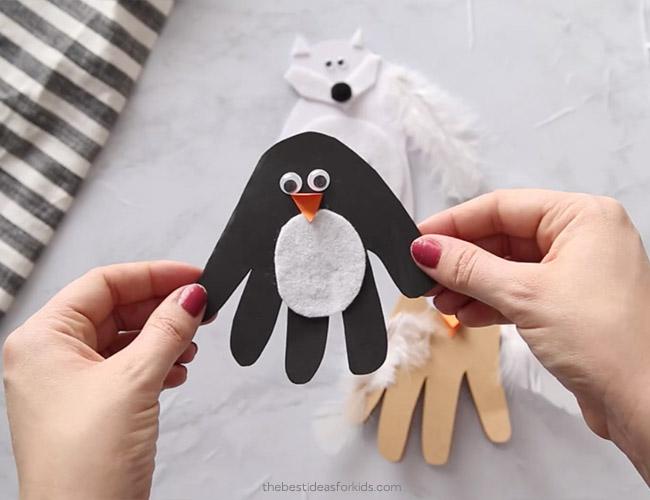 Handprint Penguin Card