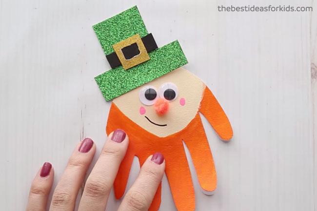 Leprechaun Handprint for St Patrick's Day