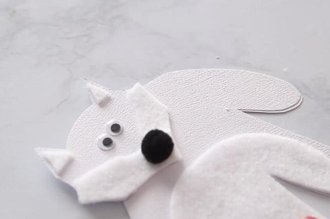 Make Arctic Fox Handprint Card