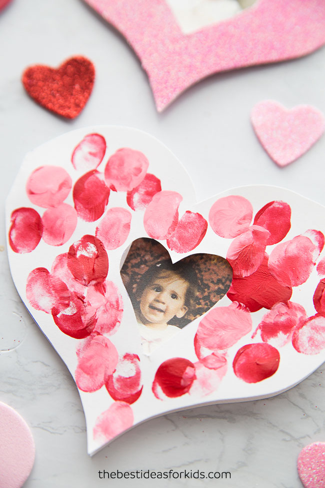 Valentine Fingerprint Heart Card