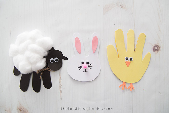 Easter Handprint Cards Craft