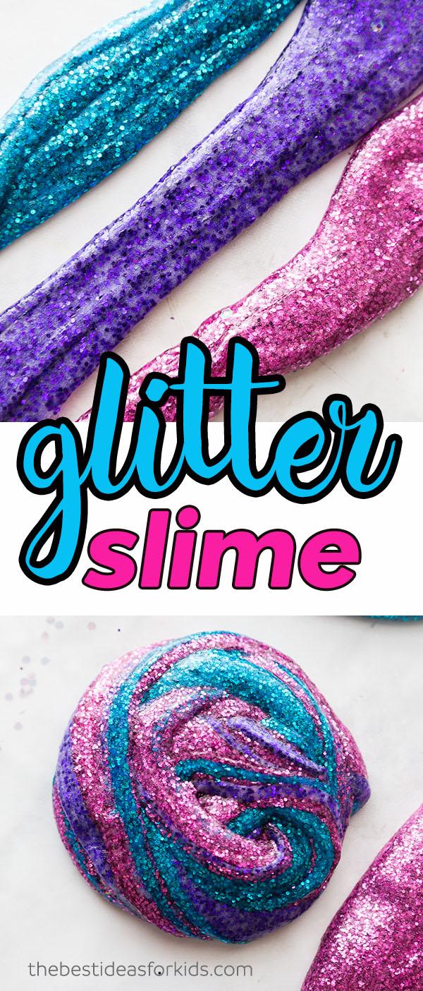 Glitter Slime Recipe for Kids