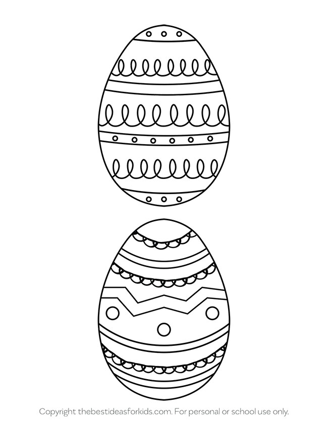 Large Easter Egg Templates