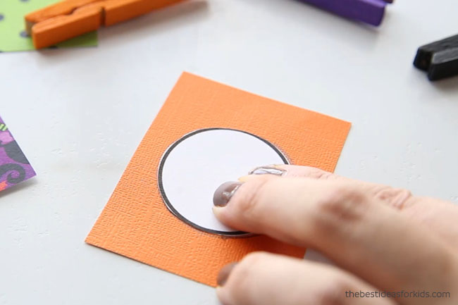 Trace templates for Halloween clothespins