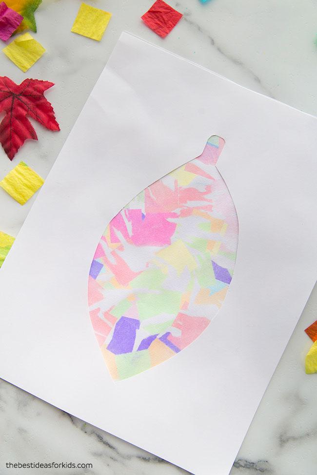 Bleeding Tissue Paper Art Leaf