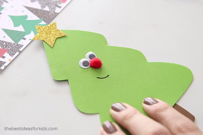 Christmas Tree Card Draw Smile