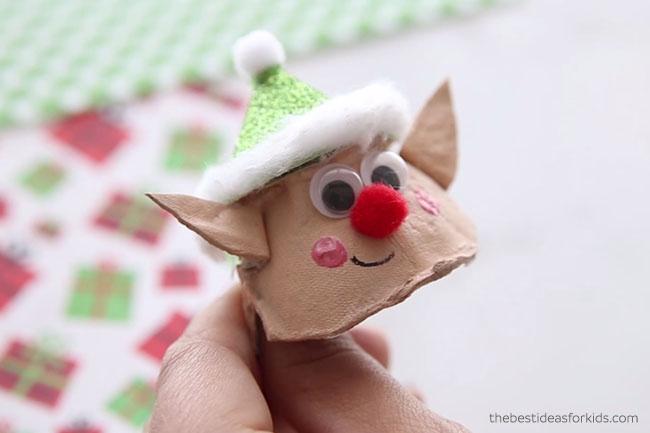 Elf Egg Carton Face