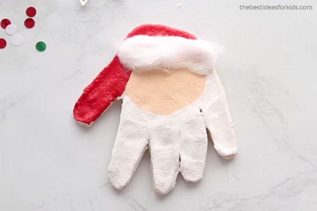 Paint Santa Handprint Ornament