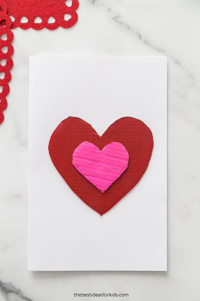 Cardboard Heart Valentine Card
