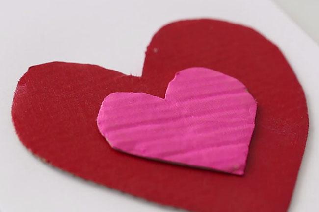 Glue Cardboard Hearts Together