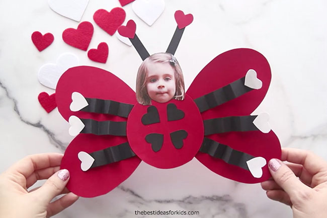 Ladybug Valentine Craft for Kids