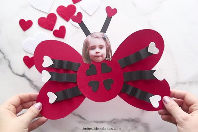 Ladybug Valentine Craft for Kids
