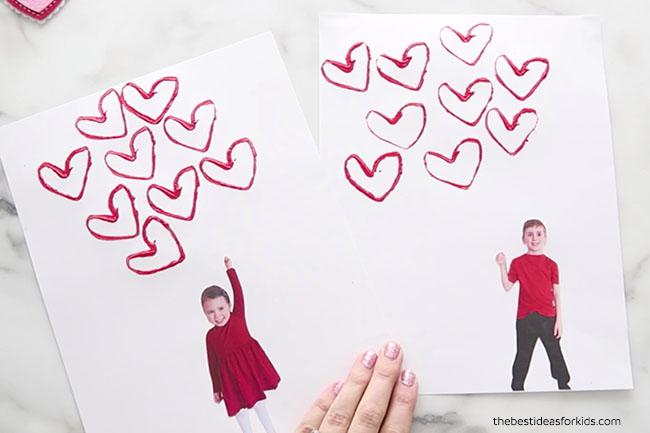 Valentine's Day Balloon Heart Craft