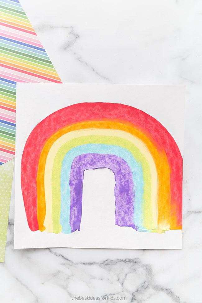 Rainbow Scrape Painting