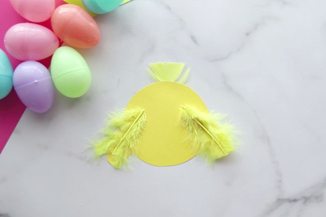 Glue Feathers to Chick