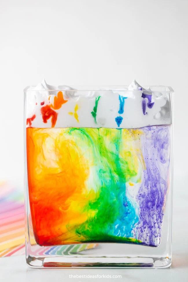 Rainbow Rain Cloud in a Jar