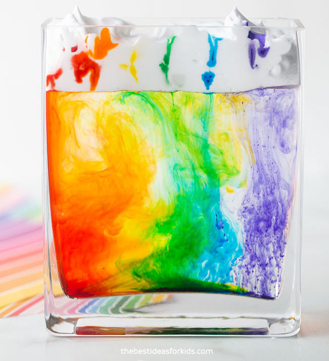 Rain Cloud in a Jar Rainbow