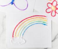Salt Painting Rainbow