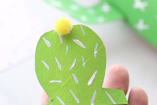 Add Pom Pom to Small Cactus