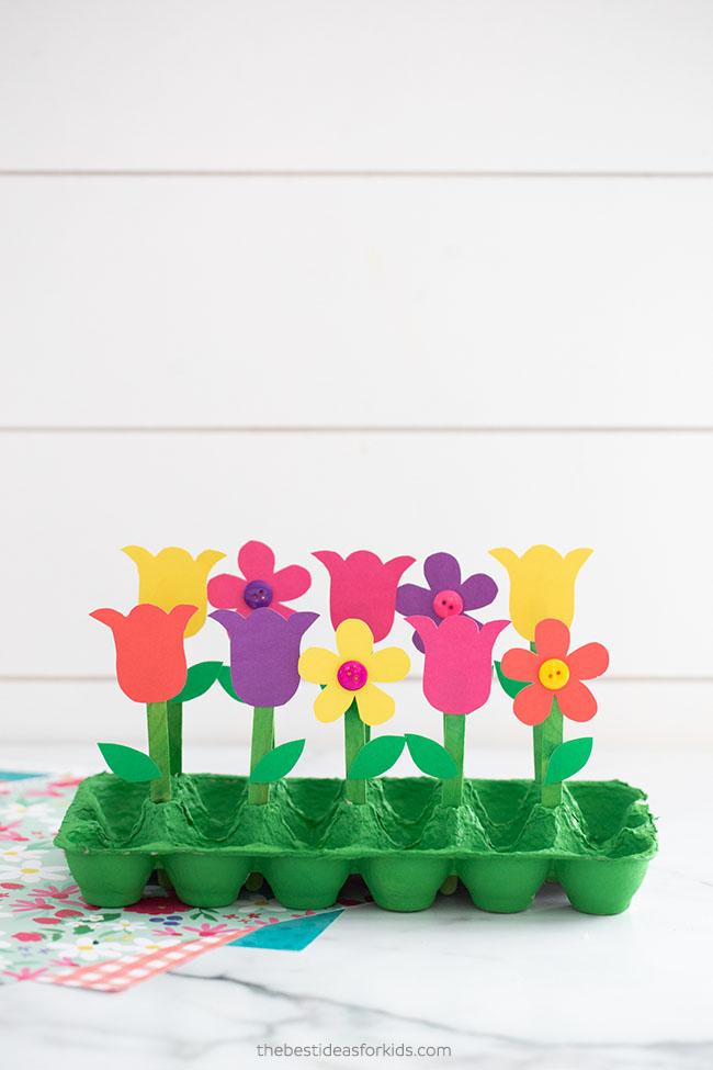 Egg Carton Garden Craft for Kids