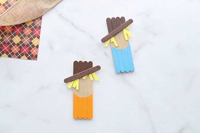 Add Mini Popsicle Stick for Hat