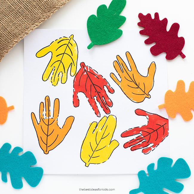 Leaf Art for Kids Handprint