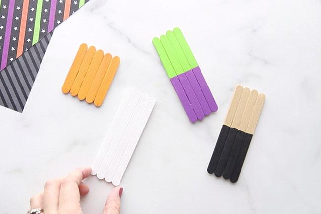 Paint Halloween Popsicle Sticks