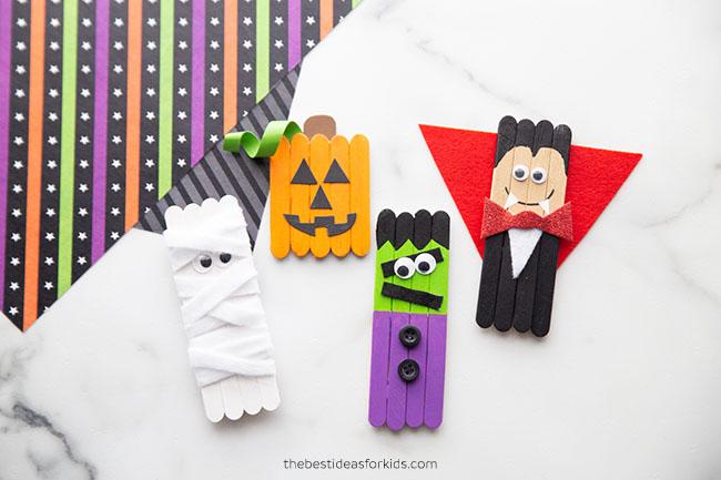 Popsicle Stick Halloween Craft Ideas
