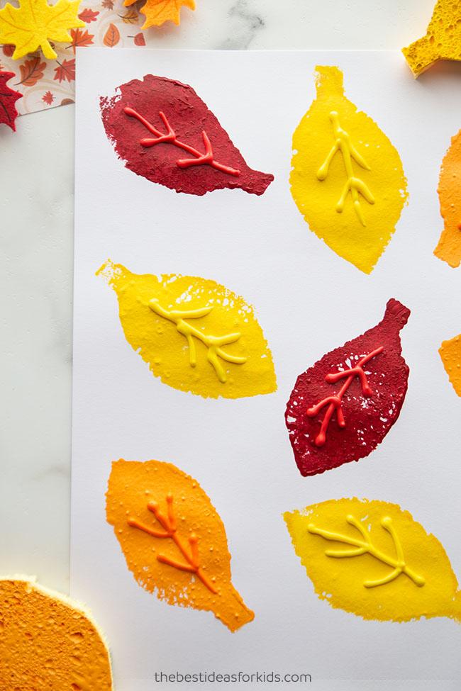 Sponge Painting Fall Craft