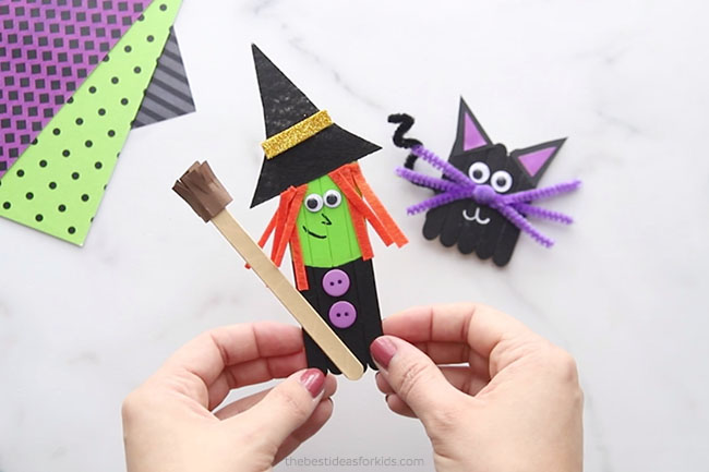 Witch Popsicle Stick Craft