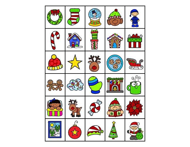 Calling Cards for Christmas Bingo