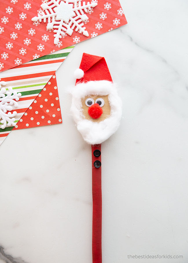Wooden Spoon Santa Craft
