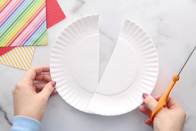 Cut Paper Plate in Half
