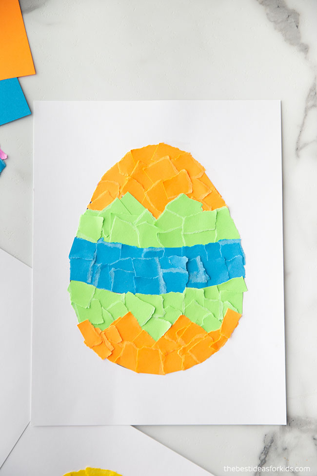 Torn Paper Easter Craft for Kids