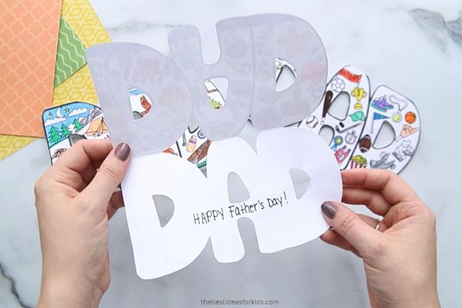 Dad Printable Card Open