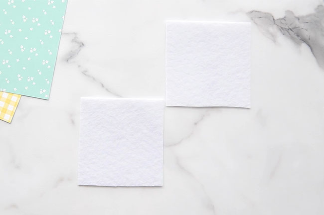 Make square felt pieces