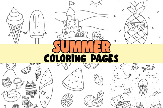 Summer Coloring Pages for Kids Printables