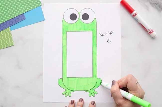Color Frog Template
