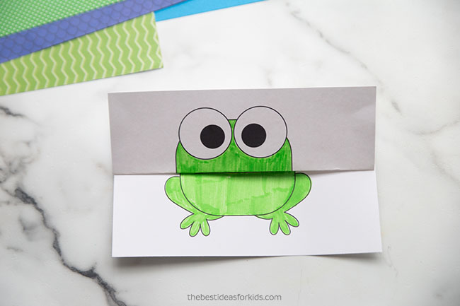 Folding Surprise Template for Frog