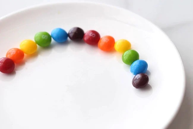 Line Up Skittles in a Circle