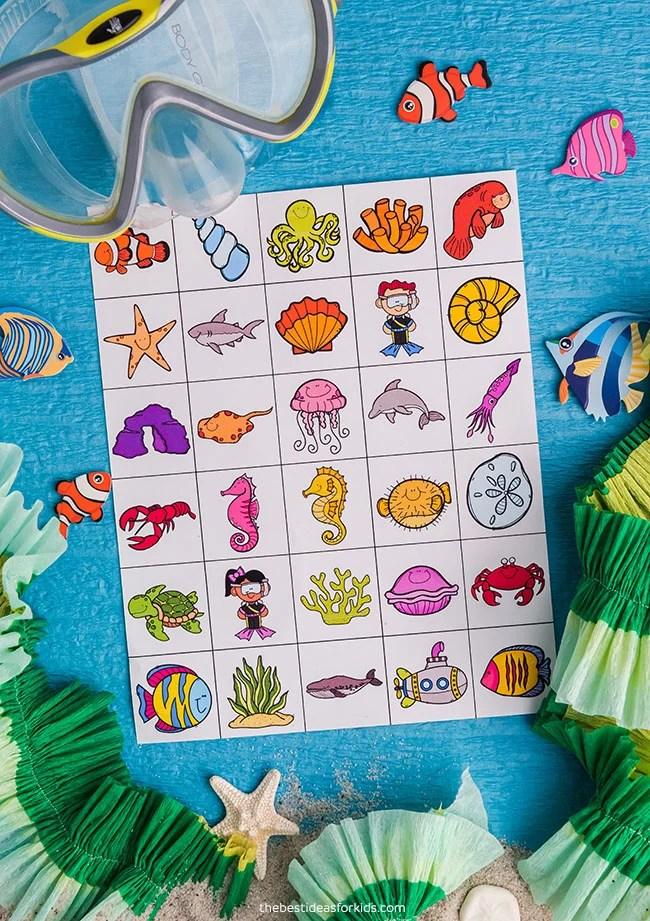Ocean Bingo Calling Cards