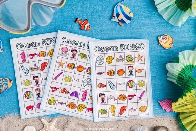 Ocean Bingo Game for Kids
